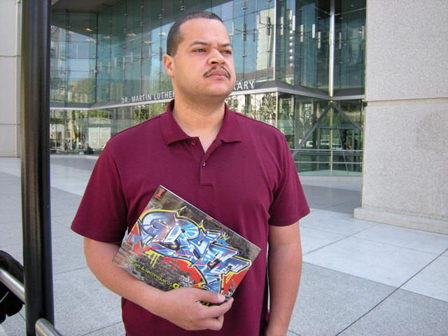 Scape Martinez posted at SJSU with his debu release of the book GRAFF.