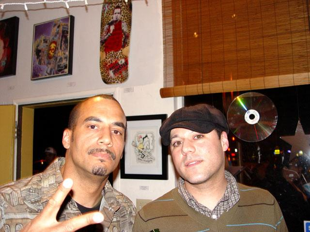 Noisman and Jeff owner of On The Corner Music at one of the in-store functions.