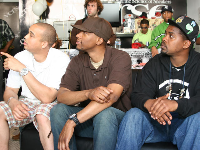 Tony Vic, DJ D-Sharp and Beatsme judge at Verse Beat Battle 2008.
