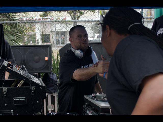 A.C. from Hip Hop Philosophy radio connecting at Beat Swap Meet 2011