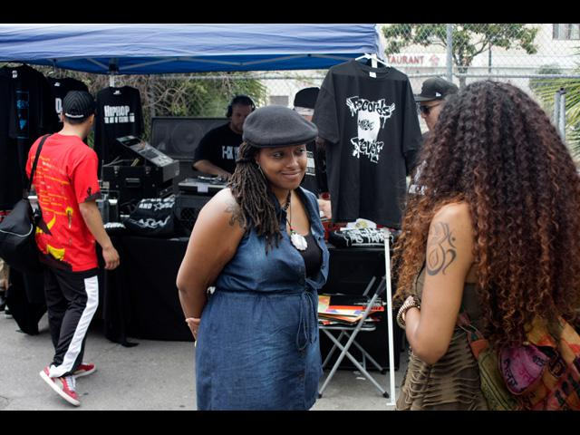 Ladies love hanging out at the LA Beat Swap Meet 2011