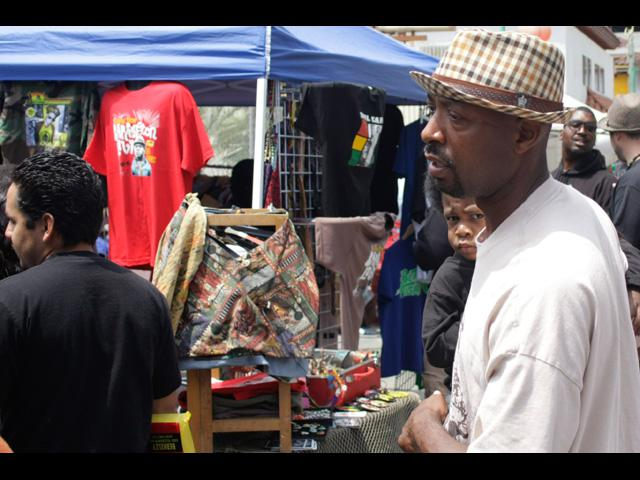 Look close, check out the young man on peep at Beat Swap Meet 2011