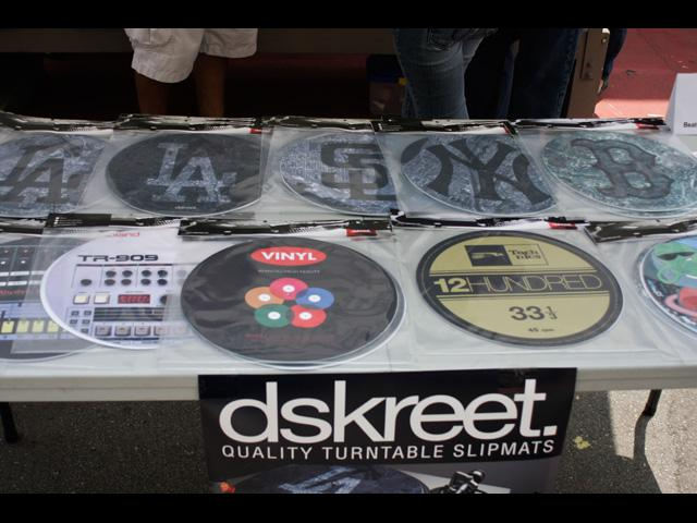 Tight custom turn table slip mats from