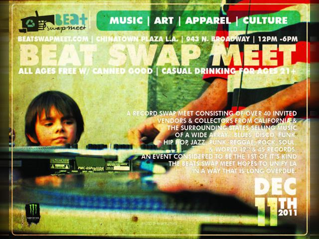 Beat Swap Meet Los Angeles Going Down Dec 11th 2011 ~ Performance by RAS G