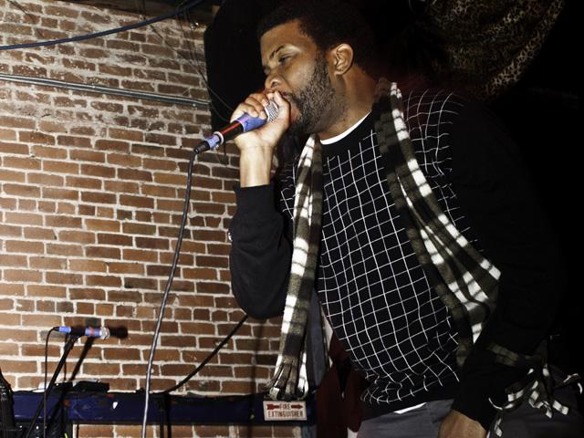 Dem One bustin rhymes on the MIC during the Black Milk show Voodoo Lounge 2011