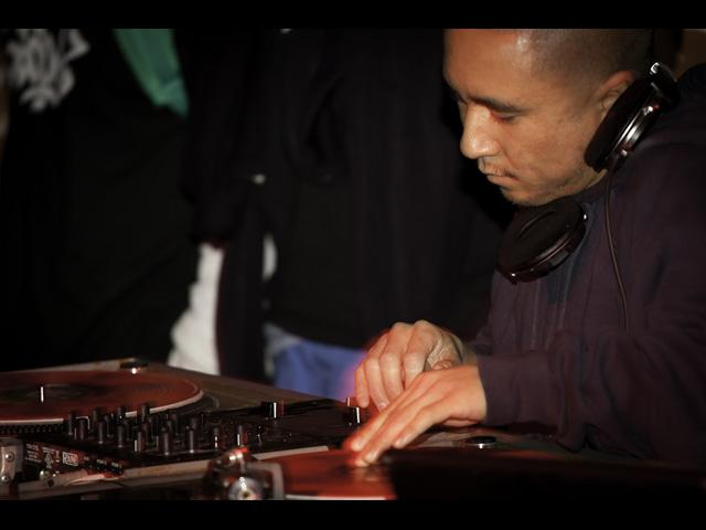 One of the many DJ's representin at the Black Milk show Voodoo Lounge 2011
