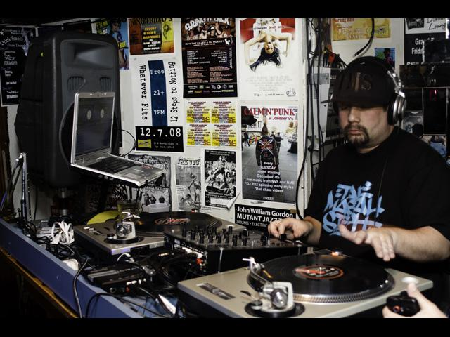 DJ Tape Mastah Steph representin the 1's and 2's at Johnny V's in San Jose California 2011