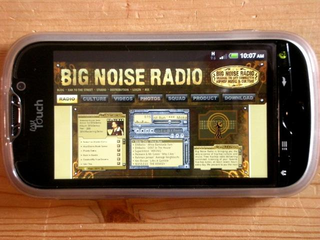 Big Noise Radio Mobile Connect ~ HTC 4G Android Phone Makes It Happen